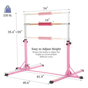 Kids Gymnastics Bar for Home with Kip Bar