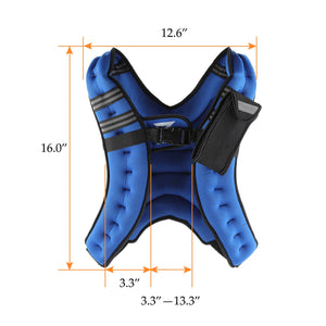 weighted exercise vest size