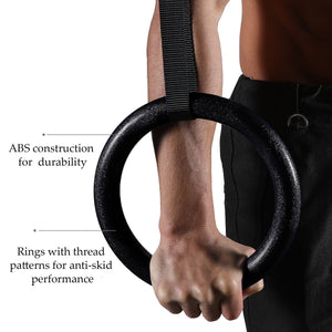 Olympic Gymnastic Rings with Adjustable Straps