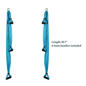 Aerial Silk Yoga Swing Set, Blue