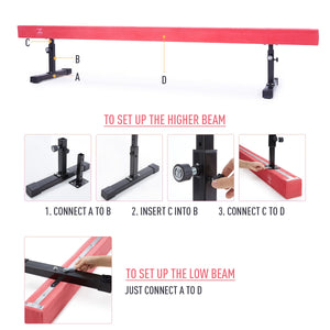 adjustable gymnastic equipment