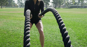 fitness equipment battle rope exercises
