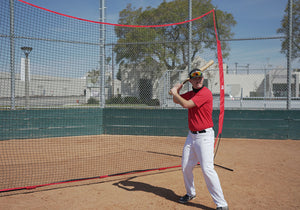 12x 9ft Sports Barrier Net, Portable Barricade Backstop Hitting Net