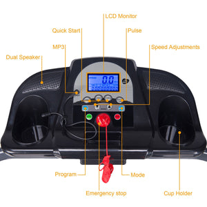 Home Gym Motorized Treadmill Monitor