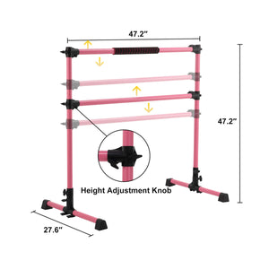 adjustable ballet bar for home gym