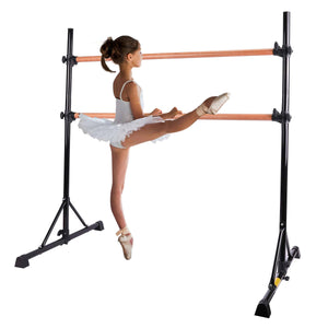 Adjustable Free Standing Kids Ballet Bar Black