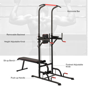 Adjustable Height Standing Tower Home Gym