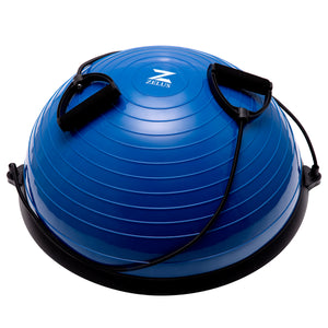 Exercise Half Balance Ball with Resistance Band Blue