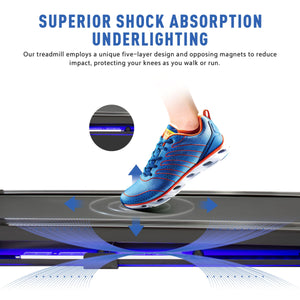Folding Treadmill w Bluetooth Speaker