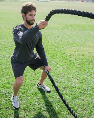 40 ft x 1.5-in Battle Ropes - Rope Exercise for Conditioning
