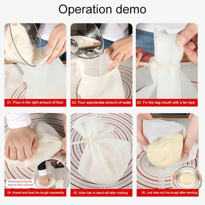 Flour mixing silicone magic dough bag