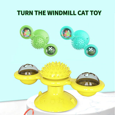 Windmill Ball Whirling Toys For Cat