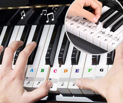 Piano Keyboard PVC Sticker Note For Beginners