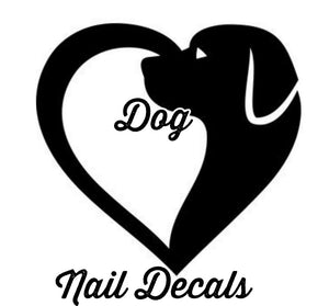 Nail decals, stickers, water slides, dog paw prints