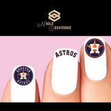 Houston Astros Baseball Assorted Nail Decals Stickers Waterslide Nail Art Design