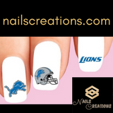 Detroit Lions Football Assorted Nail Decals Stickers Waterslide Nail Art Design