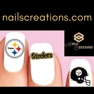 Pittsburgh Steelers Football Assorted Nail Decals Stickers Waterslide Nail Art Design