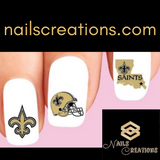 New Orleans Saints Football Assorted Nail Decals Stickers Waterslide Nail Art Design