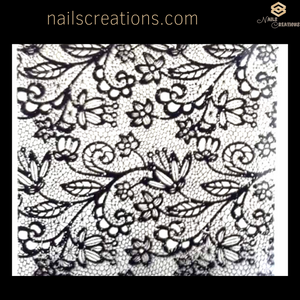 Nail Art Transfer Foil Floral Lace Design NC-13