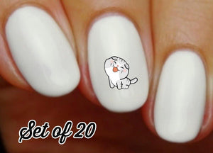 Cat Nail Decals Stickers Water Slides Nail Art