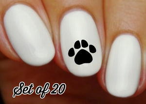 Paw Print Nail Decals Stickers Water Slides Nail Art