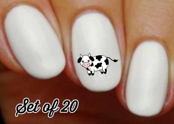 Cow Nail Decals Stickers Water Slides Nail Art