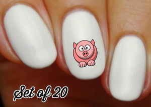 Pig Nail Decals Stickers Water Slides Nail Art