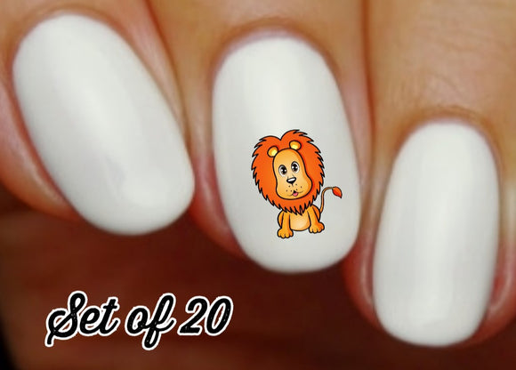 Lion Nail Decals Stickers Water Slides Nail Art