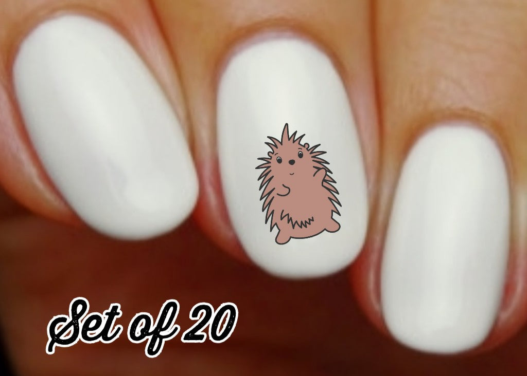 Porcupine Nail Decals Stickers Water Slides Nail Art