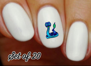 Blue Rattlesnake Nail Decals Stickers Water Slides
