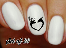 Load image into Gallery viewer, Deer Love Heart Nail Decals Stickers Water Slides Nail Art