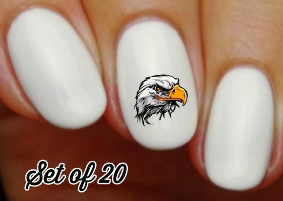 Eagle Head Nail Decals Stickers Water Slides Nail Art