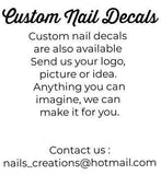 Colorful Leaves Full Nail Art Waterslide Decal Design - Nails Creations