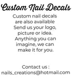 Custom Nail Water Slides Decals Stickers