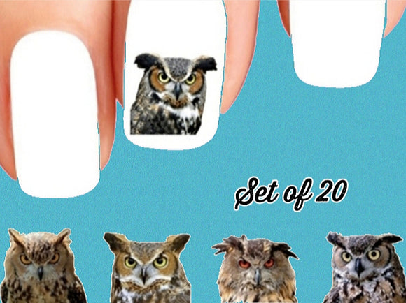Owls Assorted Nail Decals Stickers Water Slides Nail Art