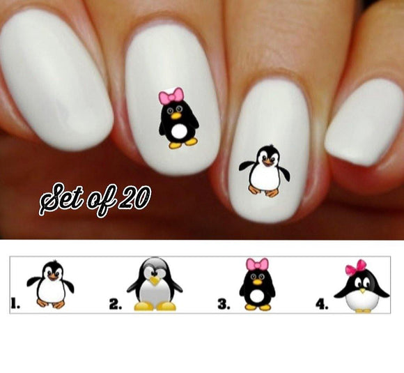 Penguin Nail Decals Stickers Water Slides Nail Art - Nails Creations
