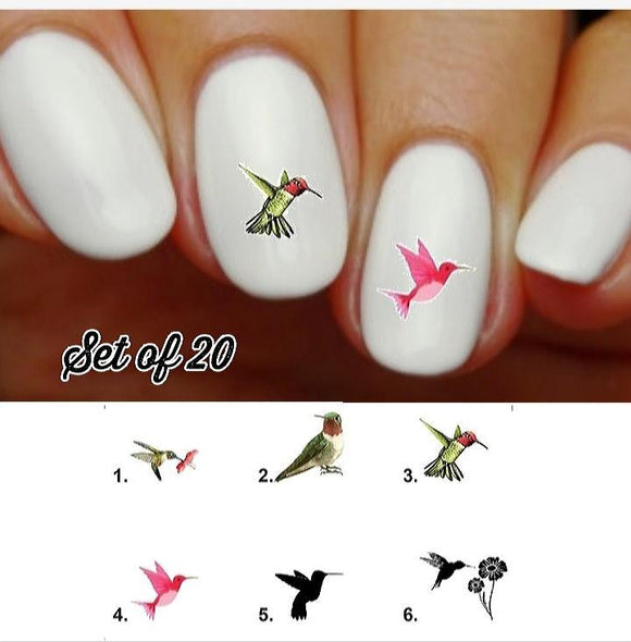 Hummingbird Nail Decals Stickers Water Slides Nail Art
