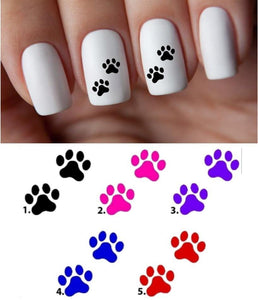 Dog Paw Prints Nail Decal Stickers Water Slides Nail Art