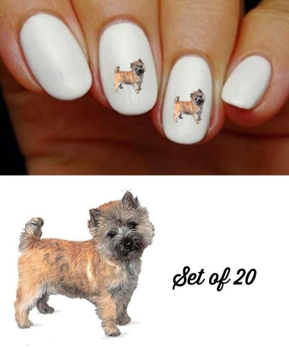 Cairn Terrier Dog Nail Decals Stickers Water Slides Nail Art