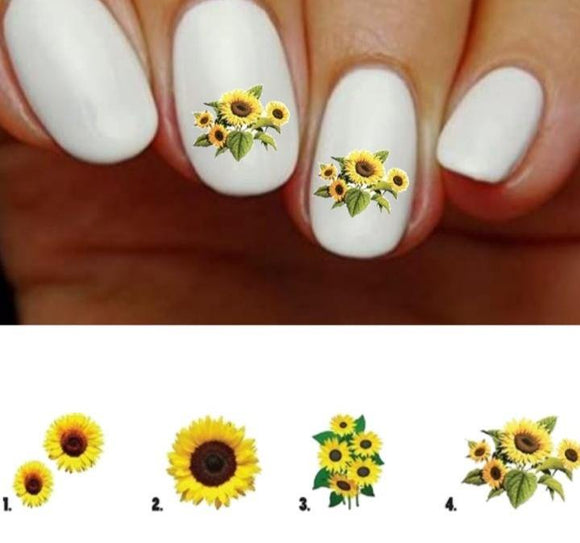 Sunflower Nail Decals Stickers Water Slides Nail Art