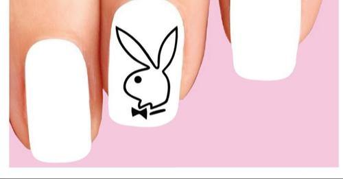 Playboy Bunny Outline Set of 20 Waterslide Nail Decals