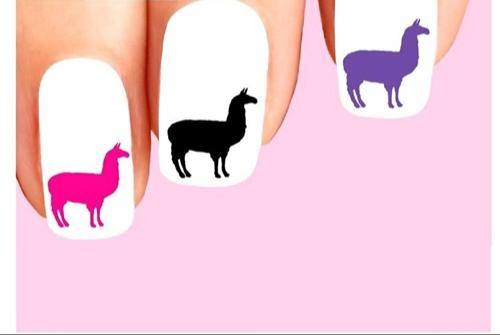 Llama Assorted Waterslide Nail Decals