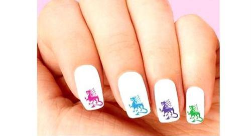 Colorful Dragons Assorted Waterslide Nail Decals