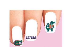 Florida Gators Assorted Waterslide Nail Decals