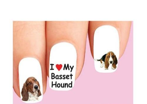 Basset Hound Assorted Waterslide Nail Decals - Nails Creations