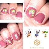 Llama and Frog Waterslide nail decals Assorted Set - Nails Creations