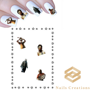 Leatherface Texas Chainsaw Massacre Halloween Assorted Set of 20 Waterslide Nail Decals