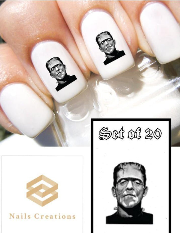 Halloween Frankenstein Monster Nail Decals Stickers Water Slides Nail Art - Nails Creations