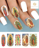 Our Lady of Guadalupe Virgin Mary Full Nail Decals Stickers Water Slides Nail Art - Nails Creations