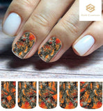 Orange Realtree Mossy Oak Camo Set Full Nail Decals Stickers Water Slides Nail Art - Nails Creations